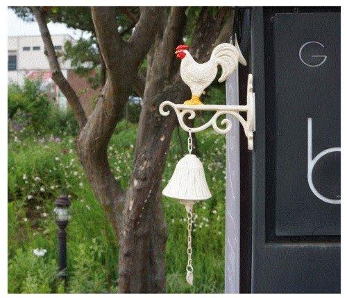 Rooster-Chicken-Garden-Door-Bell-Foundry-Main-Home-Decor-Door-Dcor-0-0