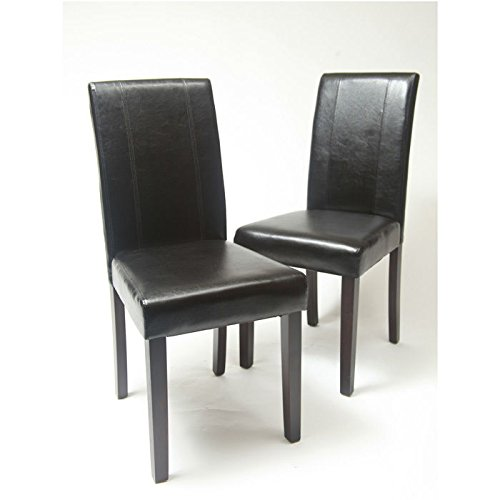 Roundhill-Urban-Style-Solid-Wood-Leatherette-Padded-Parson-Chair-Set-of-2-0