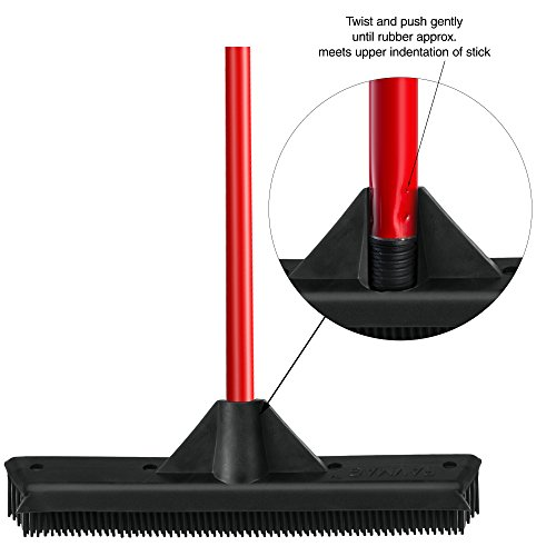Rubber-Broom-by-Ravmag-Built-in-Squeegee-Edge-Soft-Scratch-free-Bristles-Perfect-for-Pet-Hair-Great-for-cleaning-hardwood-vinyl-carpet-cement-tile-windows-Water-Resistant-0-0
