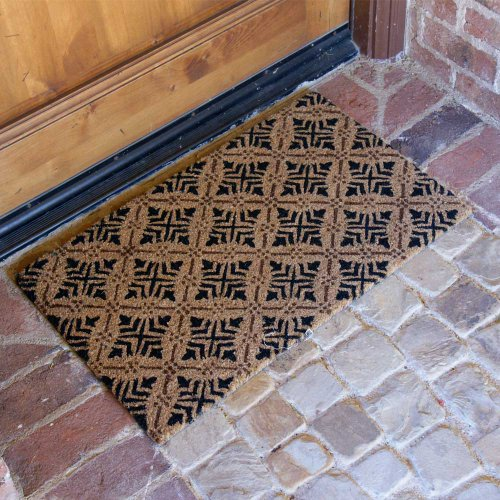 Rubber-Cal-Classic-Fleur-de-Lis-French-Matting-2-Sizes-Home-Door-Mats-0-1