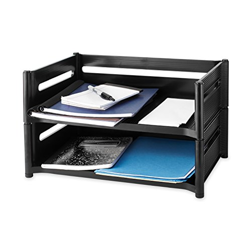 Rubbermaid-18041-Mega-stackable-add-on-tray-19w-x-12-78d-x-5-34h-ebony-0