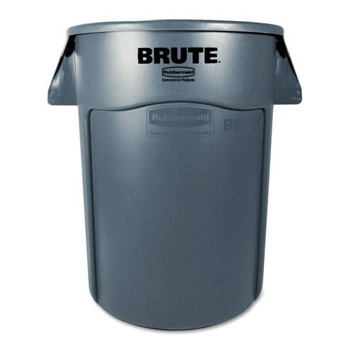 Rubbermaid-Commercial-FG264360GRAY-BRUTE-Heavy-Duty-Round-WasteUtility-Container-44-gallon-Gray-0