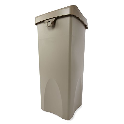 Rubbermaid-Commercial-FG792020BEIG-23-Gallon-Untouchable-Trash-Can-with-Swing-Lid-Combo-Rectangular-Beige-0-0