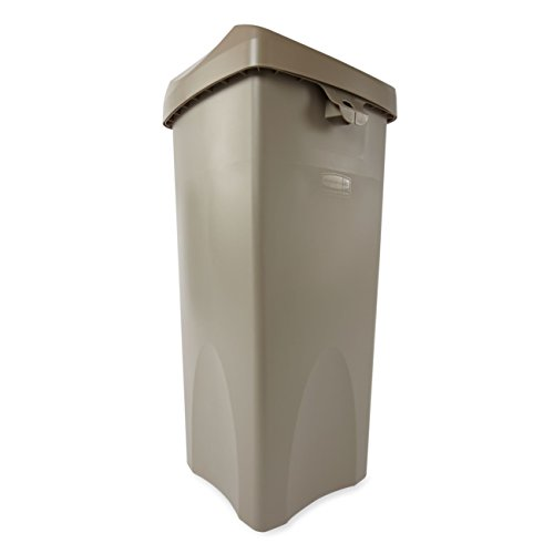 Rubbermaid-Commercial-FG792020BEIG-23-Gallon-Untouchable-Trash-Can-with-Swing-Lid-Combo-Rectangular-Beige-0-1