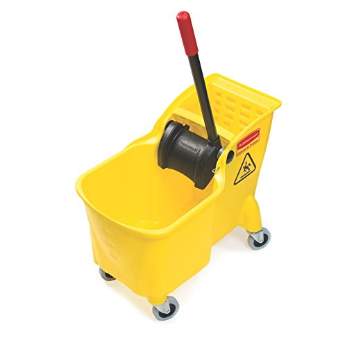 Rubbermaid-Commercial-Tandem-Bucket-and-Wringer-Combo-31-Quart-Capacity-2263-Inch-Length-x-1325-Inch-Width-x-3225-Inch-Height-Yellow-FG738000YEL-0-0