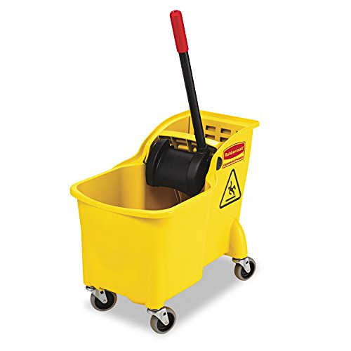 Rubbermaid-Commercial-Tandem-Bucket-and-Wringer-Combo-31-Quart-Capacity-2263-Inch-Length-x-1325-Inch-Width-x-3225-Inch-Height-Yellow-FG738000YEL-0