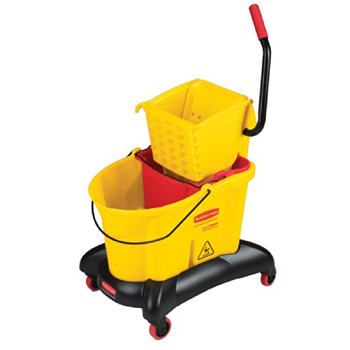 Rubbermaid-Commercial-WaveBrake-Dual-Water-Mop-Bucket-and-Side-Press-Wringer-Combo-35-Quart-Yellow-FG768000YEL-0-0