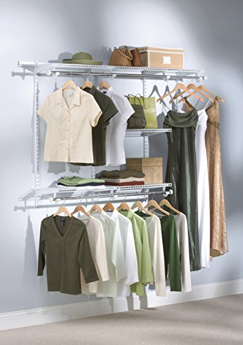 Rubbermaid-Configurations-Custom-Closet-Classic-Kit-Titanium-3-6-Foot-FG3H1102TITNM-0-1