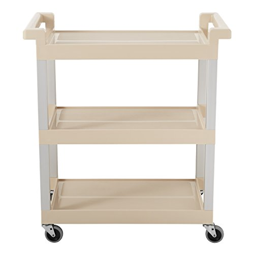 Rubbermaid-Service-Cart-with-Brushed-Aluminum-Uprights-3-Shelf-16-14-x-31-12-x-36-Beige-9T6571BG-0-0