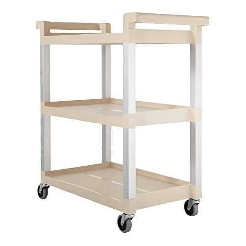 Rubbermaid-Service-Cart-with-Brushed-Aluminum-Uprights-3-Shelf-16-14-x-31-12-x-36-Beige-9T6571BG-0-1