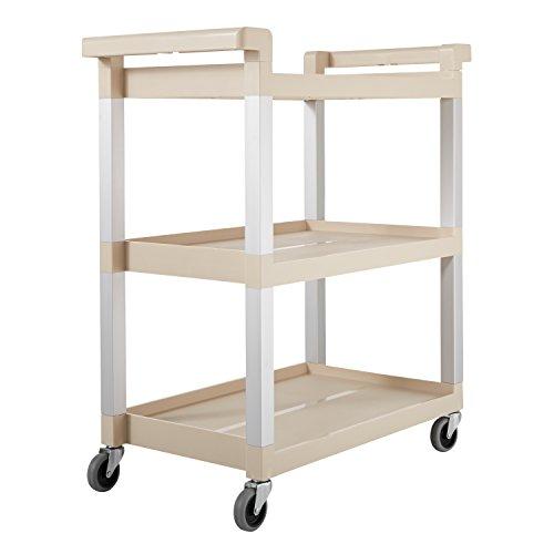 Rubbermaid-Service-Cart-with-Brushed-Aluminum-Uprights-3-Shelf-16-14-x-31-12-x-36-Beige-9T6571BG-0