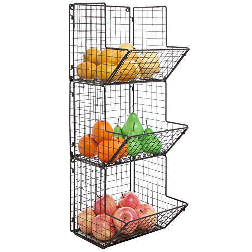 Rustic-Brown-Metal-Wire-3-Tier-Wall-Mounted-Kitchen-Fruit-Produce-Bin-Rack-Bathroom-Towel-Baskets-0