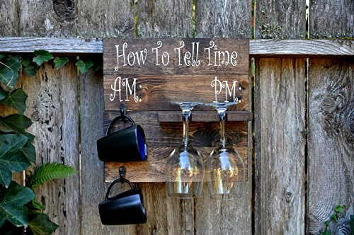 Rustic-Pallet-Wood-Coffee-Mug-and-Wine-Glass-Holder-Combo-Rack-Wall-Mounted-0
