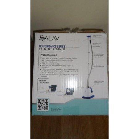 SALAV-GS06-DJ-Performance-Garment-Steamer-with-360-Degree-Swivel-Hanger-Dual-Insulated-Hose-1500W-Blue-0-1