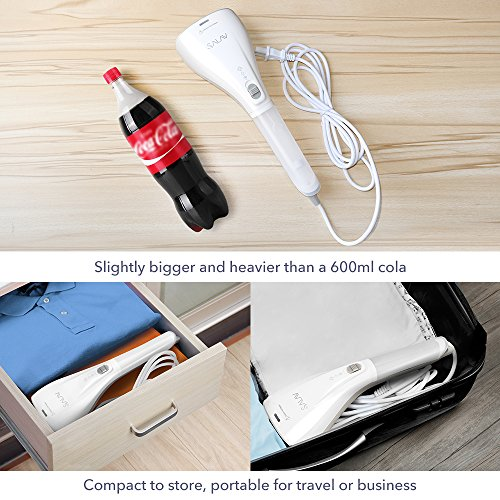SALAV-StrongFastContinuous-Steam-Ready-in-35s-Portable-Handheld-Travel-Steamer-Lightweight-with-Dual-Heat-with-Brush-0-0