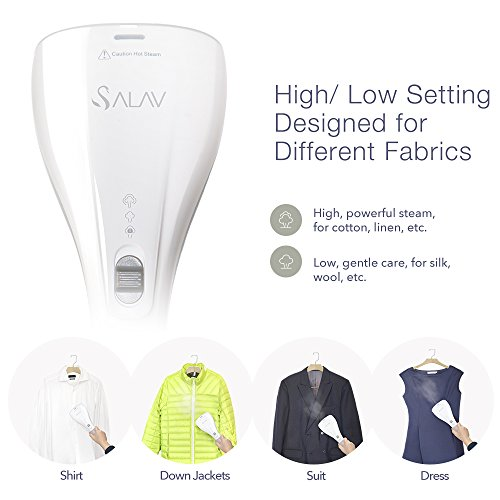 SALAV-StrongFastContinuous-Steam-Ready-in-35s-Portable-Handheld-Travel-Steamer-Lightweight-with-Dual-Heat-with-Brush-0-1
