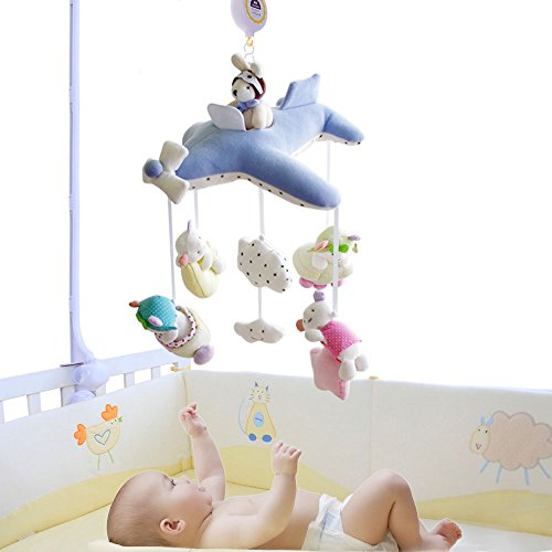SHILOH-Deluxe-Baby-Plush-Crib-Mobile-with-60-songs-Musical-Box-and-Arm-Blue-Plane-0-0