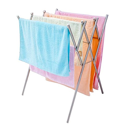 SOGES-Folding-and-Tension-Towel-Rack-Towel-Rail-Towel-Holder-Free-Stand-Stainless-Steel-Material-Rust-Proof-17-315L315H-inch-0