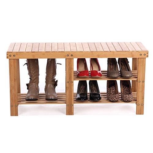 SONGMICS-2-tier-Shoe-Bench-Boot-Organizing-Rack-Entryway-Storage-Shelf-100-Bamboo-ULBS06N-0-0