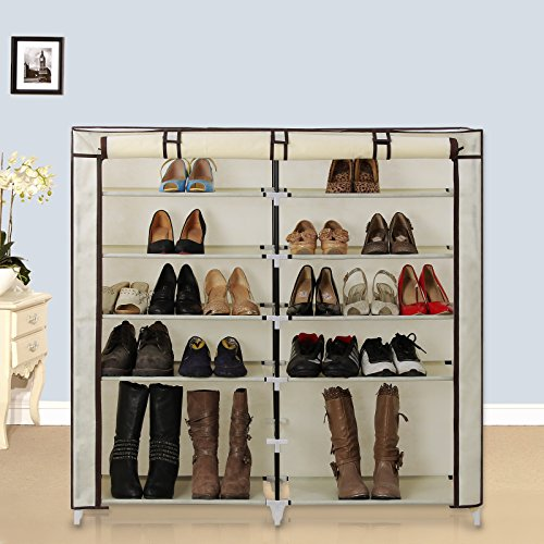 SONGMICS-7-Tier-Portable-Shoe-Rack-Organizer-36-Pair-Shoe-Storage-Cabinet-Beige-URXJ12M-0-0