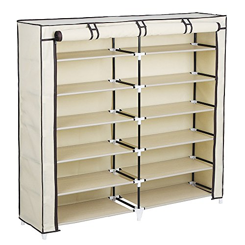 SONGMICS-7-Tier-Portable-Shoe-Rack-Organizer-36-Pair-Shoe-Storage-Cabinet-Beige-URXJ12M-0