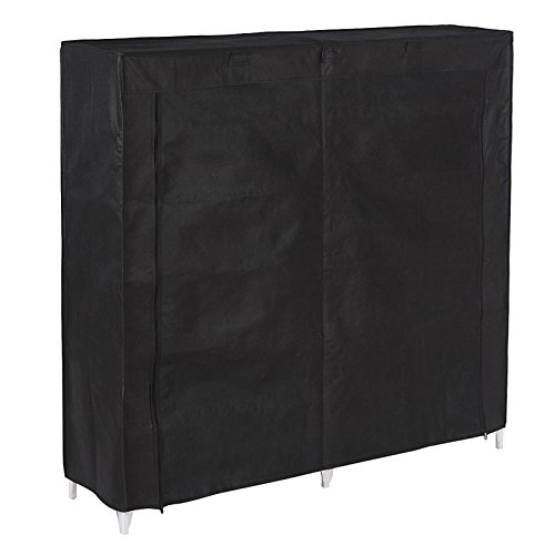 SONGMICS-7-Tiers-Portable-Shoe-Rack-Closet-with-Fabric-Cover-Shoe-Storage-Organizer-Cabinet-Black-URXJ12H-0-1