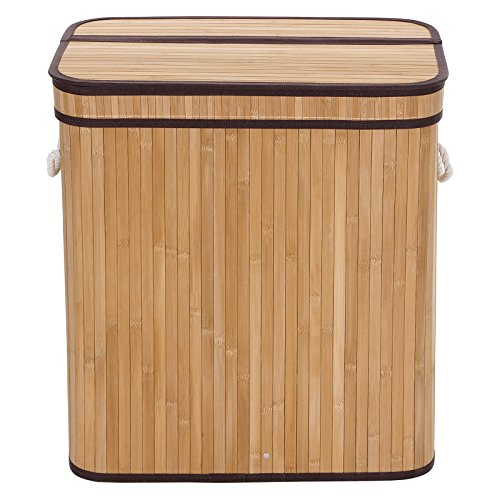 SONGMICS-Bamboo-Laundry-Basket-Double-Hamper-Two-section-Clothes-Storage-Rectangular-Natural-ULCB64Y-0-1