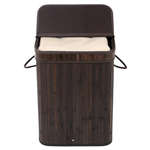 SONGMICS-Bamboo-Laundry-Basket-Folding-Hamper-with-Lid-and-Liner-Laundry-Storage-Rectangular-Dark-Brown-ULCB10B-0-0