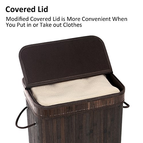 SONGMICS-Bamboo-Laundry-Basket-Folding-Hamper-with-Lid-and-Liner-Laundry-Storage-Rectangular-Dark-Brown-ULCB10B-0-1