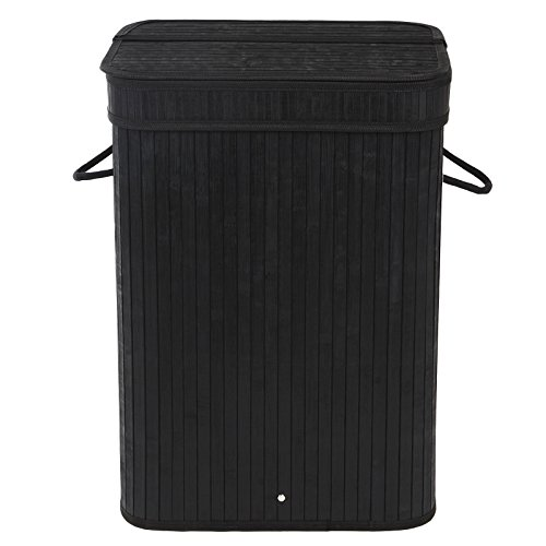 SONGMICS-Bamboo-Laundry-Hamper-Clothes-Storage-Basket-with-Removable-Lid-and-Liner-Rectangular-Black-ULCB10H-0-0