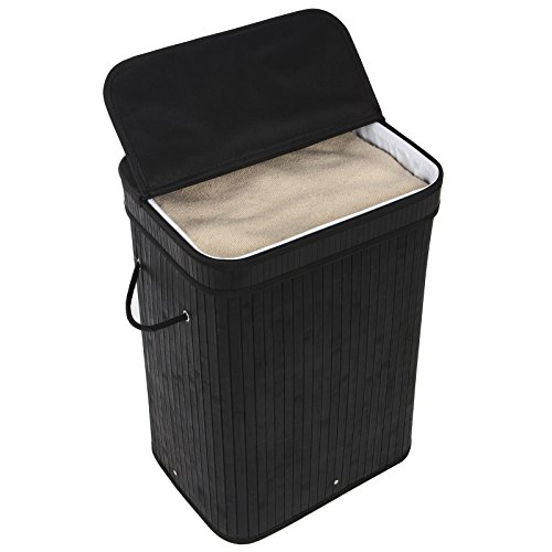 SONGMICS-Bamboo-Laundry-Hamper-Clothes-Storage-Basket-with-Removable-Lid-and-Liner-Rectangular-Black-ULCB10H-0-1