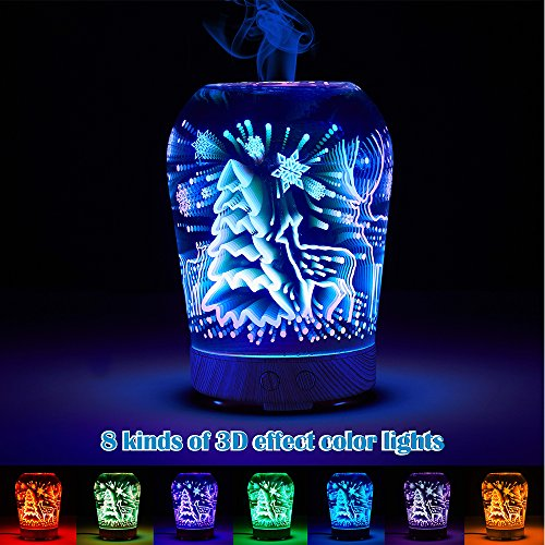 SUN-E-Aromatherapy-Oil-Diffuser100ML-Essential-Oil-Ultrasonic-Cool-Mist-Humidifier-Waterless-Auto-Shut-off-Perfect-Christmas-Gift-With-3D-16-Color-Changing-Starburst-LED-Lights-0-0