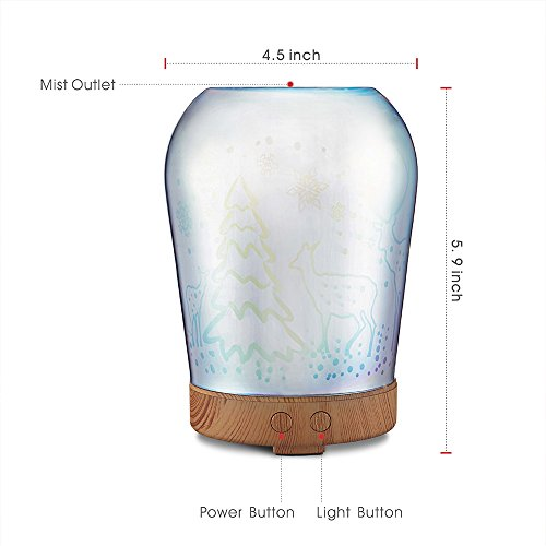SUN-E-Aromatherapy-Oil-Diffuser100ML-Essential-Oil-Ultrasonic-Cool-Mist-Humidifier-Waterless-Auto-Shut-off-Perfect-Christmas-Gift-With-3D-16-Color-Changing-Starburst-LED-Lights-0-1