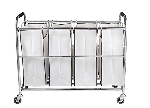 Saganizer-4-Bag-Laundry-Organizer-Chrome-White-0-0