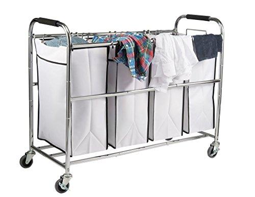 Saganizer-4-Bag-Laundry-Organizer-Chrome-White-0