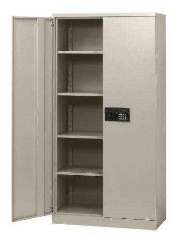 Sandusky-Lee-Steel-SnapIt-Storage-Cabinet-Keyless-Electronic-Lock-4-Adjustable-Shelves-72-Height-x-36-Width-x-18-Depth-0