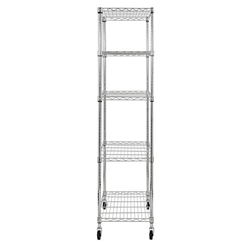 Sandusky-MWS361872-5-Tier-Mobile-Wire-Shelving-Unit-with-3-Rubber-Casters-5-Wire-Shelves-Chrome-72-Height-x-36-Width-x-18-Depth-0-1