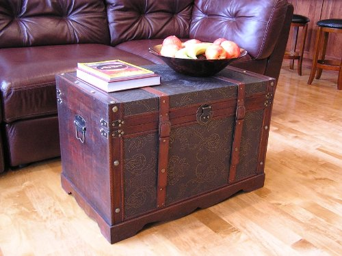 Saratoga-Faux-Leather-Chest-Wooden-Steamer-Trunk-0-0