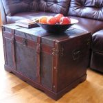 Saratoga-Faux-Leather-Chest-Wooden-Steamer-Trunk-0-1