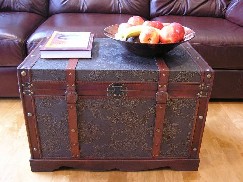 Saratoga-Faux-Leather-Chest-Wooden-Steamer-Trunk-0