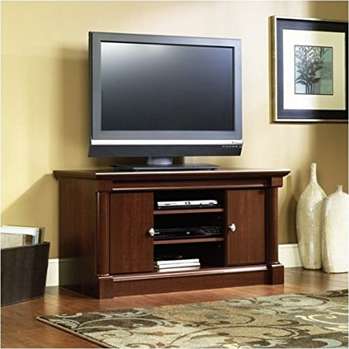 Sauder-Palladia-Panel-TV-Stand-Select-Cherry-Finish-0