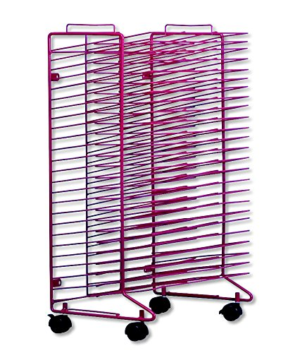 Sax-Stack-a-Rack-Modular-Mobile-Drying-Rack-17-x-21-x-30-inches-Red-0