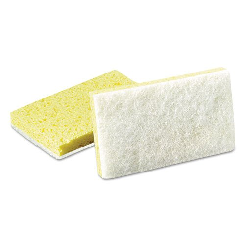 Scotch-Brite-Light-Duty-Scrubbing-Sponge-63-3-12-x-5-58-YellowWhite-Includes-20-sponges-0