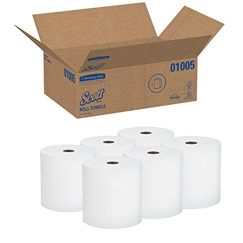 Scott-High-Capacity-Hard-Roll-Paper-Towels-01005-White-1000-Roll-6-Paper-Towel-Rolls-Convenience-Case-0-1