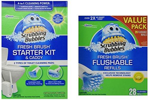 Scrubbing-Bubbles-Fresh-BRUSH-Max-Starter-Kit-and-Scrubbing-Bubbles-Toilet-Fresh-Brush-28-ct-Flushable-Biodegradable-Refills-Bundle-2-Items-0