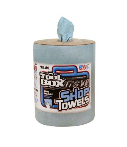 Sellars-55207-ToolBox-Z400-Big-Grip-Refill-Shop-Towel-13-Length-x-10-Width-Blue-6-Rolls-of-200-Sheets-0