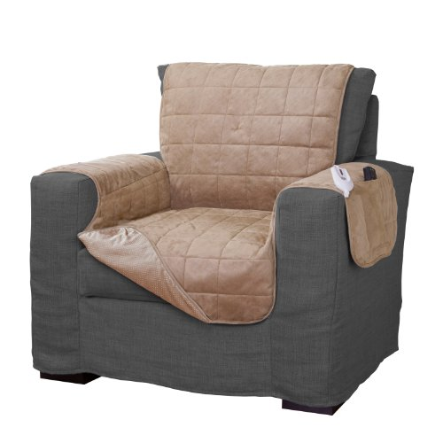 Serta-Microsuede-Diamond-Quilted-Electric-Warming-Furniture-Camel-0