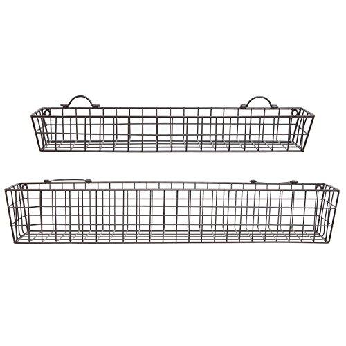 Set-of-2-Country-Rustic-Wall-Mounted-Openwork-Metal-Wire-Storage-Basket-Shelves-Display-Racks-MyGift-0-1