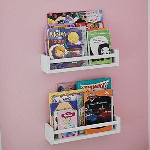 Set-of-2-Nursery-Room-Wall-Shelf-White-Wood-0-1
