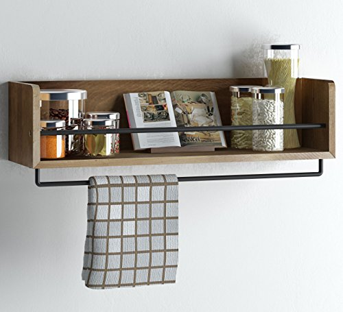Set-of-2-Rustic-Kitchen-Wood-Wall-Shelf-with-Metal-Rail-Also-Multi-Use-Can-Be-Used-As-a-Spice-Rack-Living-Room-or-Bedroom-Wall-Shelf-Walnut-Stained-0-0